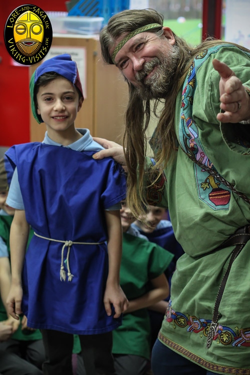 A Viking in school presentation for Key stage two. - Image copyrighted © Gary Waidson. All rights reserved.