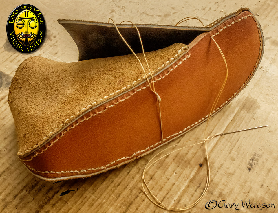 Making Viking Shoes  - Lore and Saga - Image copyrighted © Gary Waidson. All rights reserved.